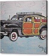 Woodie Station Wagon Acrylic Print