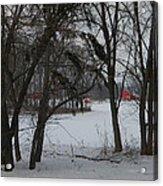 Woodland Farm in Winter Acrylic Print