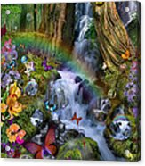 Woodland Forest Fairyland Acrylic Print by Alixandra Mullins