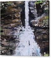 Woodland Waterfall Acrylic Print by Jack Skinner