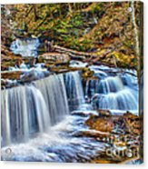 Wateralls In The Woods Acrylic Print