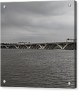 Woodrow Wilson Bridge - Washington Dc - 01131 Acrylic Print