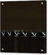 Woodrow Wilson Bridge - Washington Dc - 01138 Acrylic Print