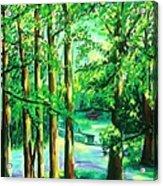 Woodside View Green Acrylic Print
