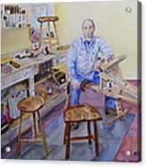 Woodworker Chair Maker Acrylic Print