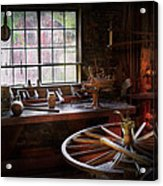 Woodworker - The Wheelwright Shop  Acrylic Print