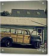 Woody Bus Acrylic Print