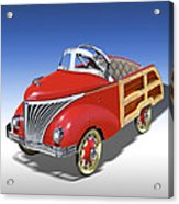 Woody Peddle Car Acrylic Print