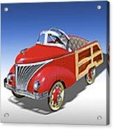 Woody Peddle Car Acrylic Print