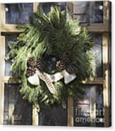 Wool And Feather Wreath Acrylic Print