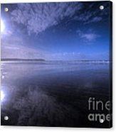 Woolacombe Beach In Blue  Acrylic Print