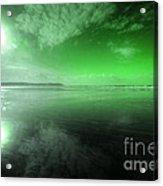 Woolacombe Beach In Green  Acrylic Print