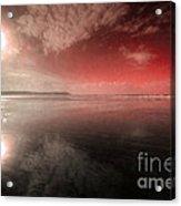 Woolacombe Beach In Red  Acrylic Print