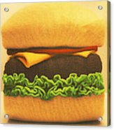 Woolly Burger Acrylic Print