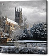 Worcester Cathedral Cloudy Acrylic Print