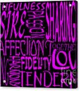 Words Of Love 2 Acrylic Print