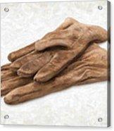 Work Gloves Acrylic Print by Danny Smythe