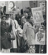 Workers At The Grunwick Laboratories Offered Council Houses Acrylic Print