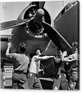 Workmen Spin Propeller Pv-1 Acrylic Print