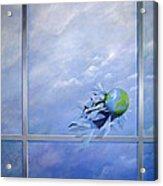 World Breaking Glass Acrylic Print