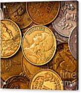 World Coins Acrylic Print by Mark Miller