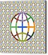 World Globe Earth Travel Graphic Digital Colorful Pattern Signature Art  Navinjoshi Artist Created I Acrylic Print