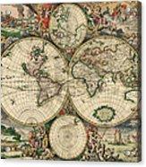 World Map 1689 Acrylic Print