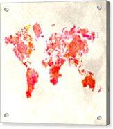 World Map 1h Acrylic Print