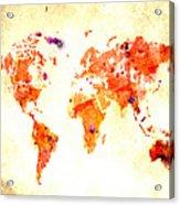 World Map 2d Acrylic Print