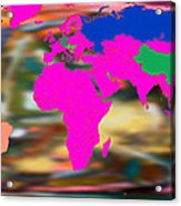 World Map And Human Life Acrylic Print