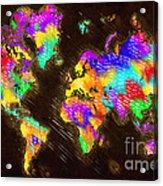 World Map Color Acrylic Print