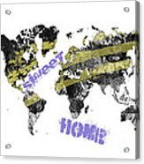World Map Cool Acrylic Print