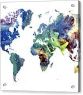 World Map Cosmos Acrylic Print