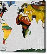 Franz Marc 4 World Map Acrylic Print