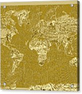 World Map Landmark Collage 10 Acrylic Print