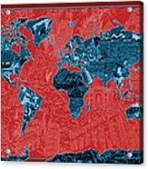 World Map Landmark Collage 11 Acrylic Print