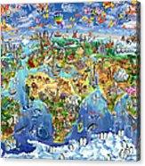 World Map Of World Wonders Acrylic Print