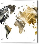 World Map Sandy World Acrylic Print