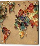 World Map Watercolor Painting 1 Acrylic Print