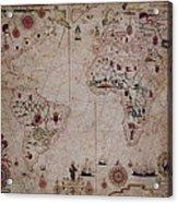 World Nautical Chart 1633 Acrylic Print