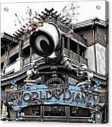 World Of Disney Signage Downtown Disneyland Sc Acrylic Print