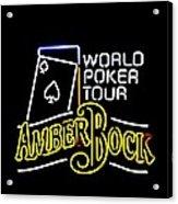 World Poker Tour And Amber Bock Acrylic Print