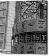 World Time Clock Berlin Acrylic Print