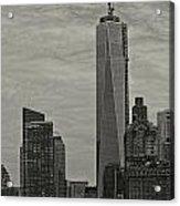 World Trade Center Construction Acrylic Print