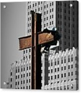 World Trade Center Cross New York Acrylic Print