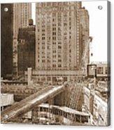World Trade Center Reconstruction Vintage Acrylic Print