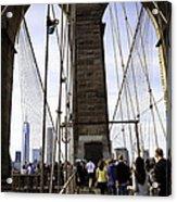 World Trade Center Through The Bridge Acrylic Print