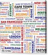 World Travel Acrylic Print