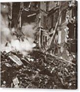 World War I Paris Bombed Acrylic Print