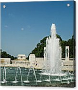 World War II Monument With Lincoln Monument Acrylic Print